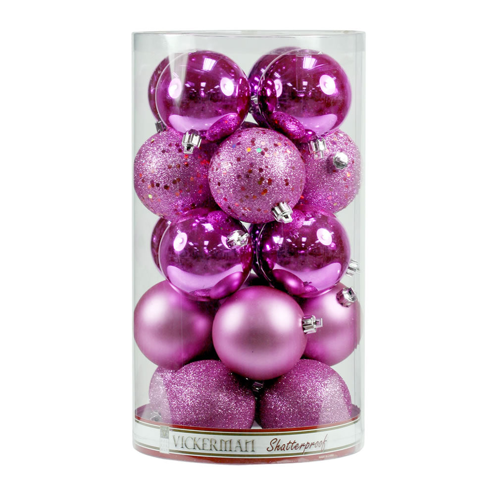 "2.75"" Orchid 4 Finish Ornament Asst 20/Box"