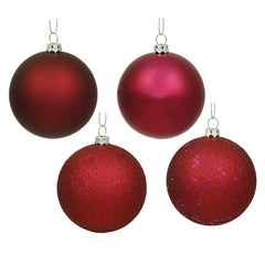 Vickerman 3 in. Wine Matte Ball Christmas Ornament