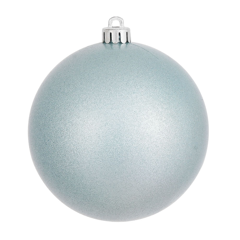 Vickerman 10 in. Baby Blue Candy Ball Christmas Ornament