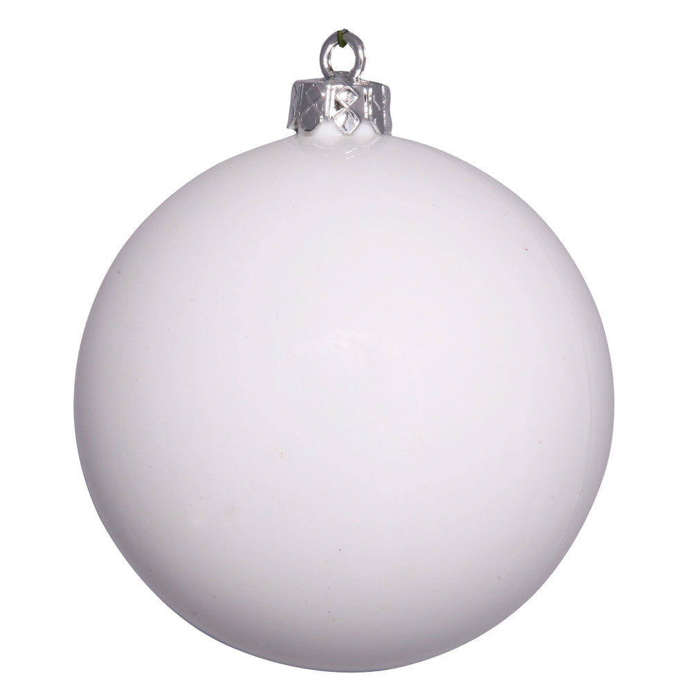 "2.75"" White Shiny Ball UV Drilled 12/Bag"