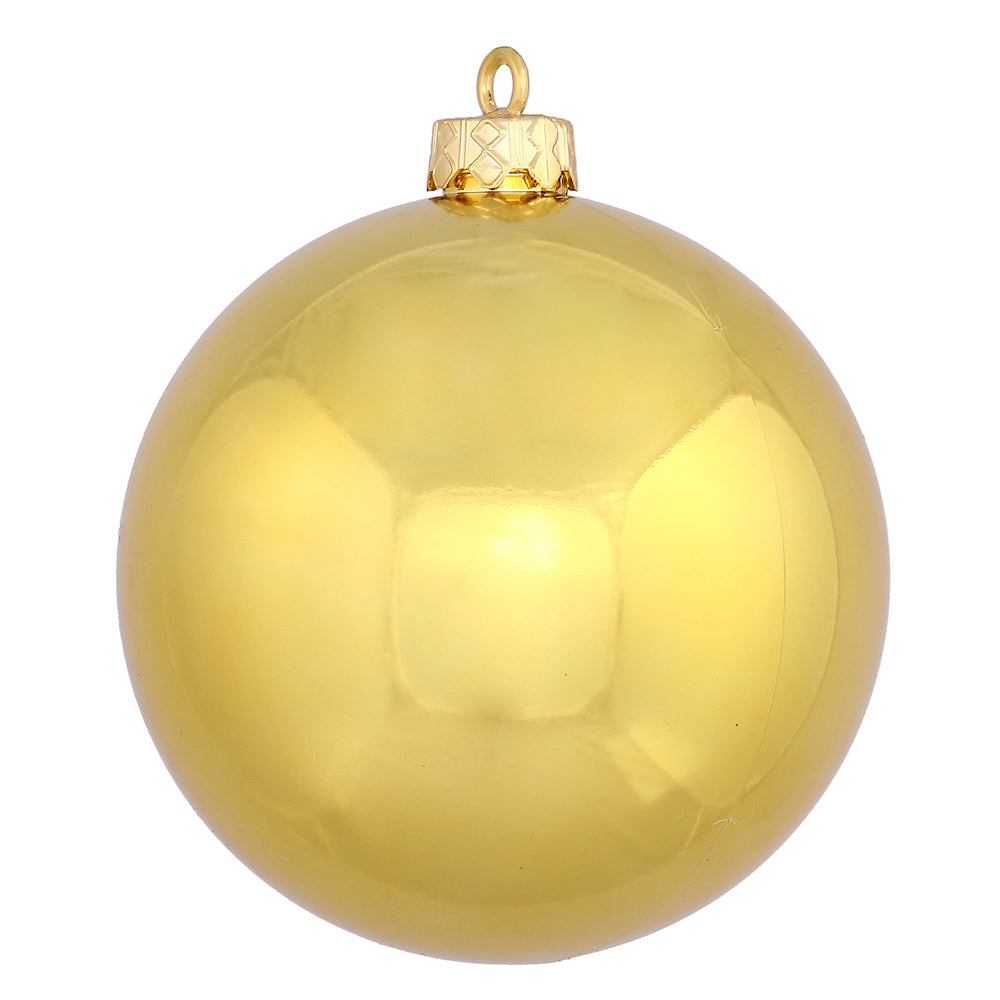 "3"" Gold Shiny Ball UV Drilled 12/Bag"