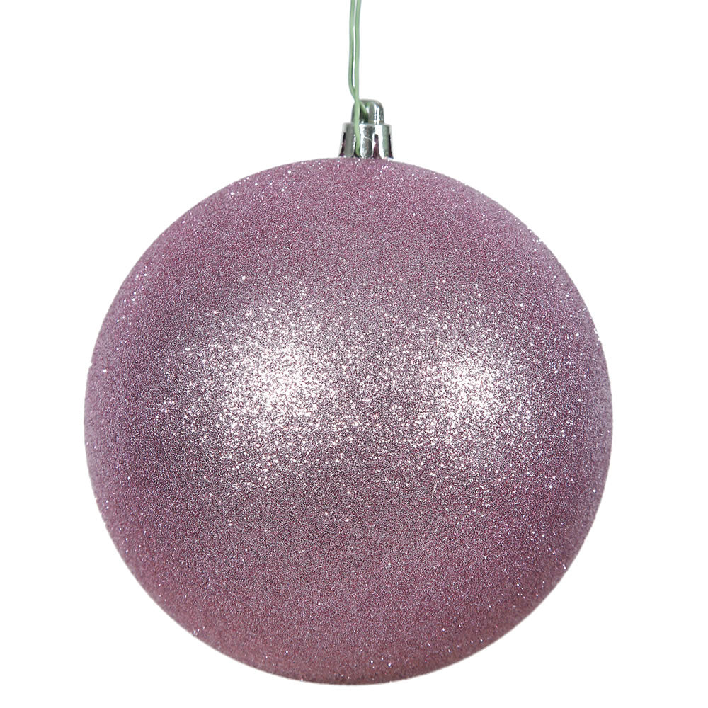 "10"" Orchid Pink Glitter Shatterproof UV Resist Christmas Ball Ornament"