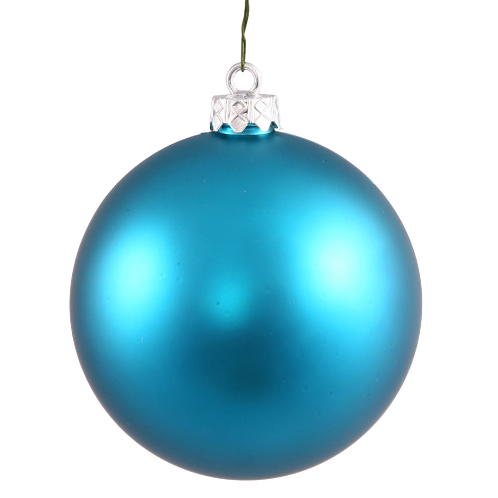 Vickerman 4 in. Turquoise Matte Ball Christmas Ornament