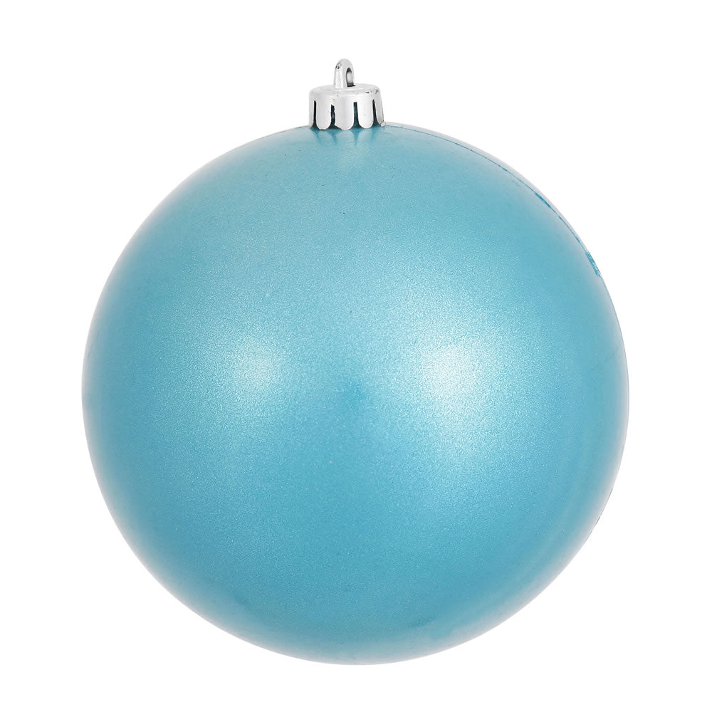 Vickerman 4 in. Turquoise Candy Ball Christmas Ornament