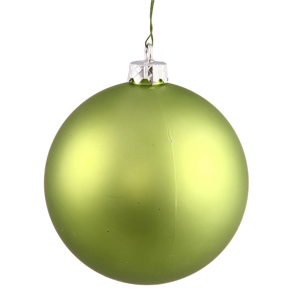 "3"" Lime Matte Ball UV Drilled 12/Bag"