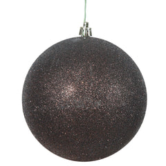 "12"" Chocolate Glitter Shatterproof UV Resistant Christmas Ball Ornament"