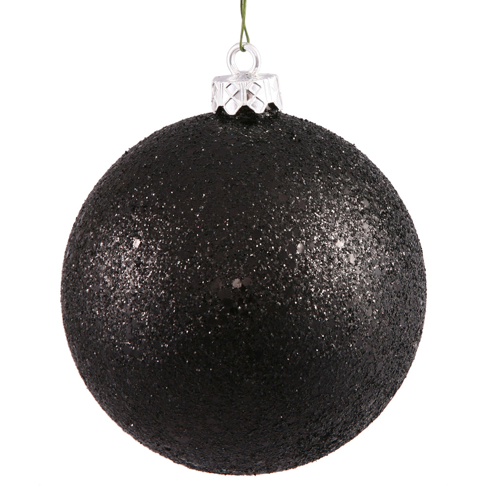 "10"" Black Sequin Ball Drilled Cap"