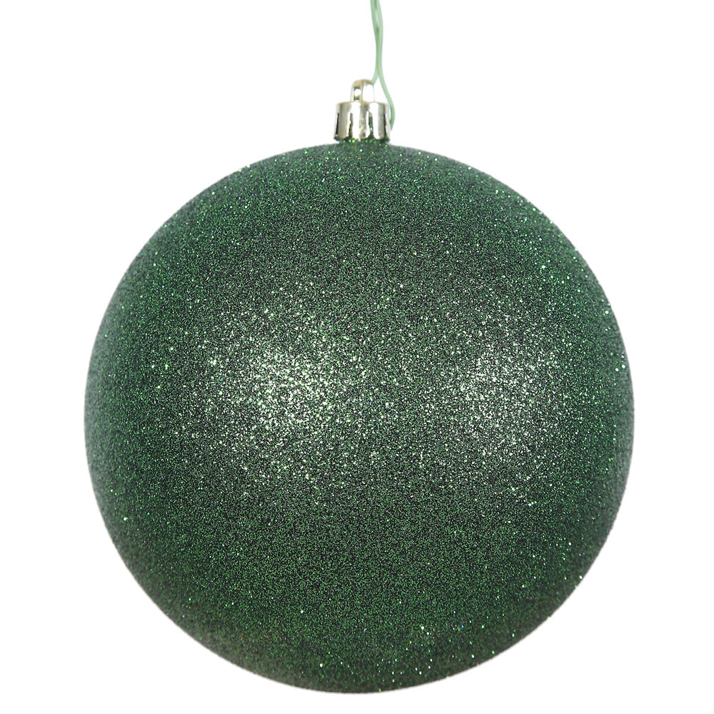 Vickerman 4 in. Emerald Glitter Ball Christmas Ornament