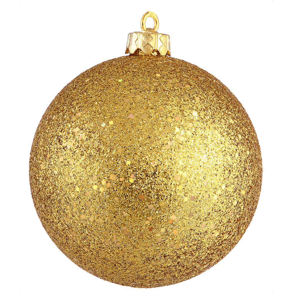 "6"" Anti Gold Sequin Ball Drilled 4/Bag"