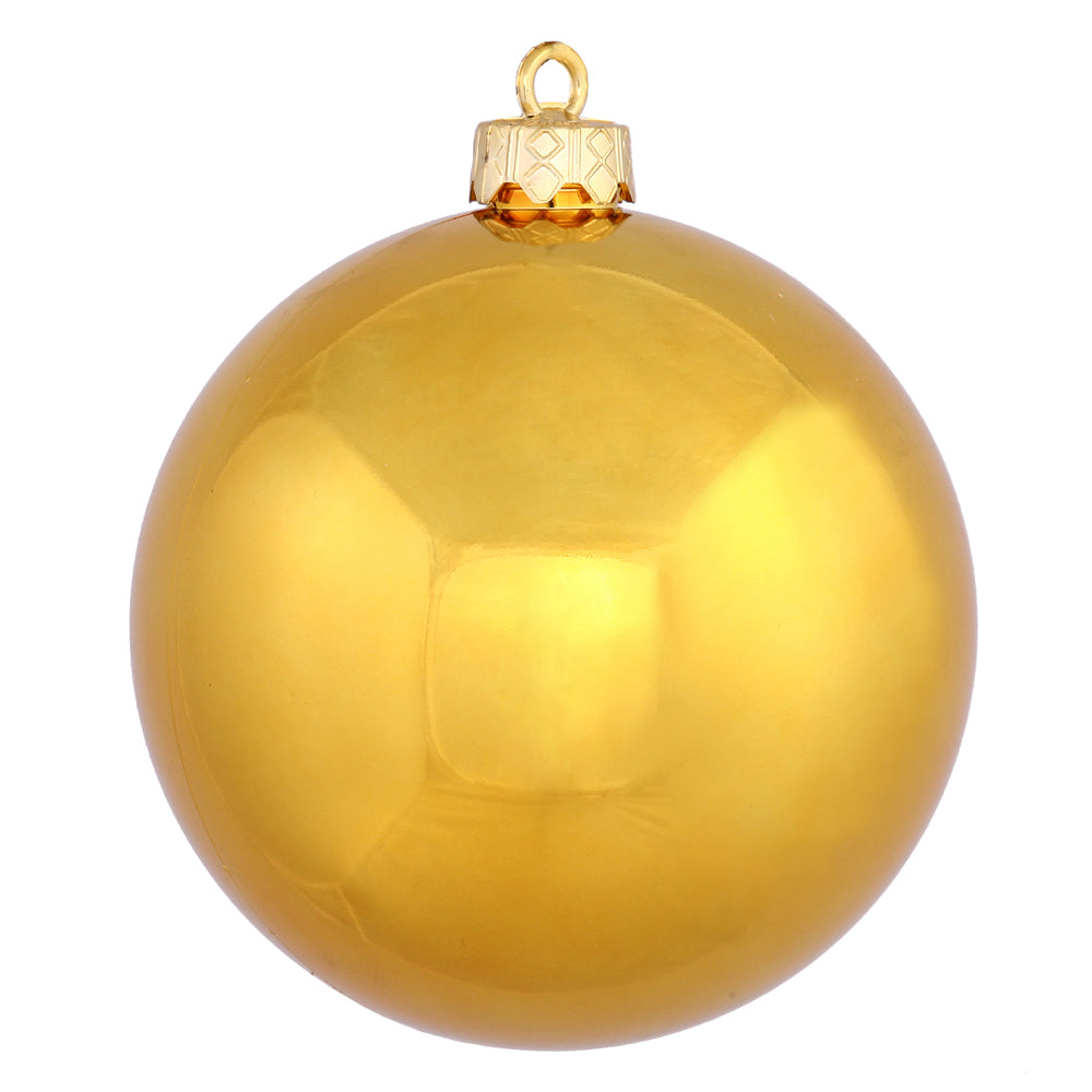 Vickerman 3 in. Antique Gold Shiny Ball Christmas Ornament