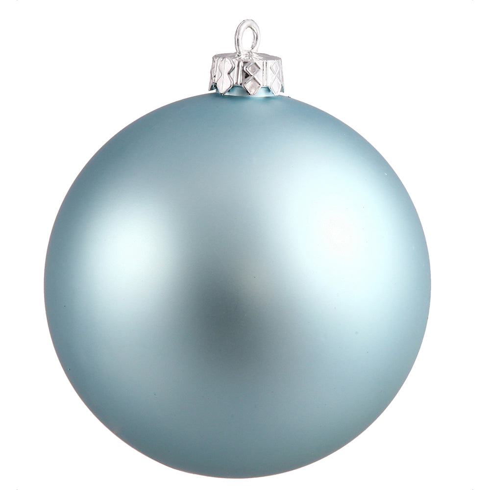 "6"" Baby Blue Matte Ball UV Drilled 4/Bag"