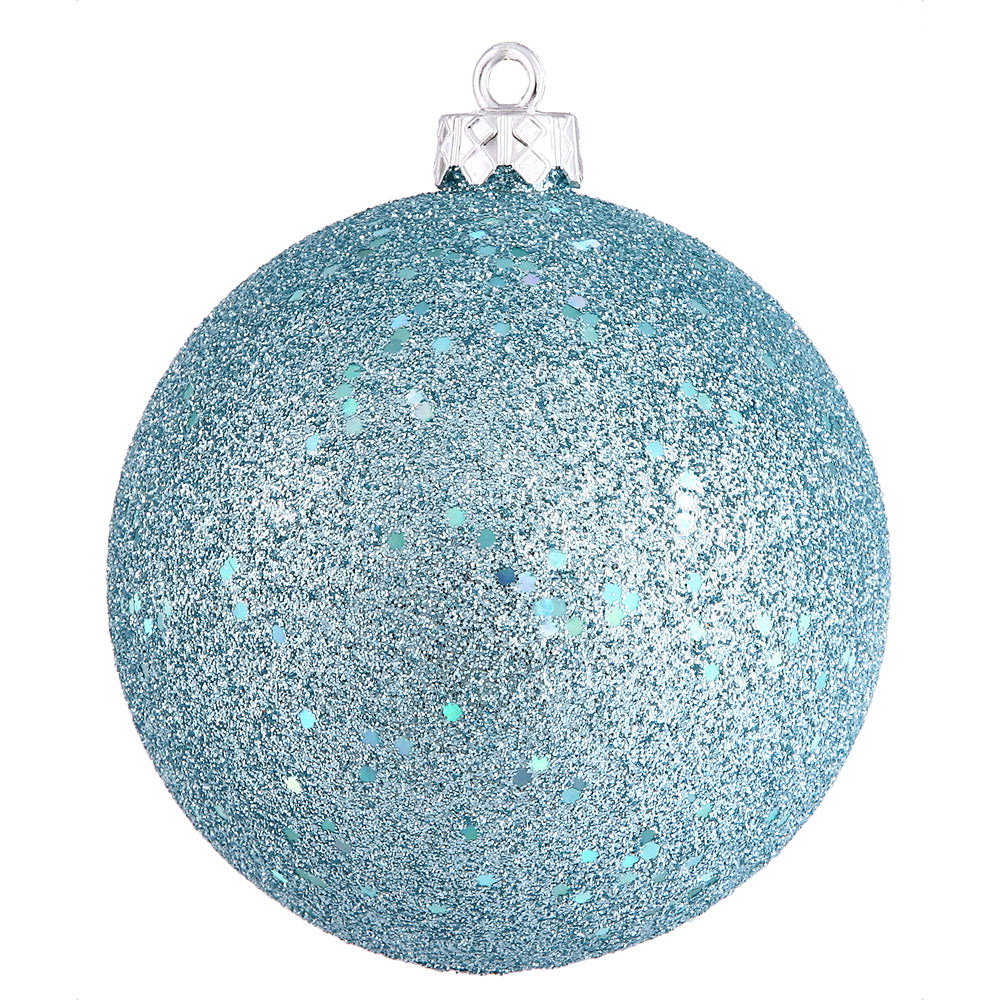 "4"" Baby Blue Sequin Ball Drilled 6/Bag"