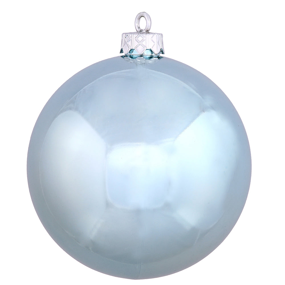 "4"" Baby Blue Shiny Ball UV Drilled 6/Bag"