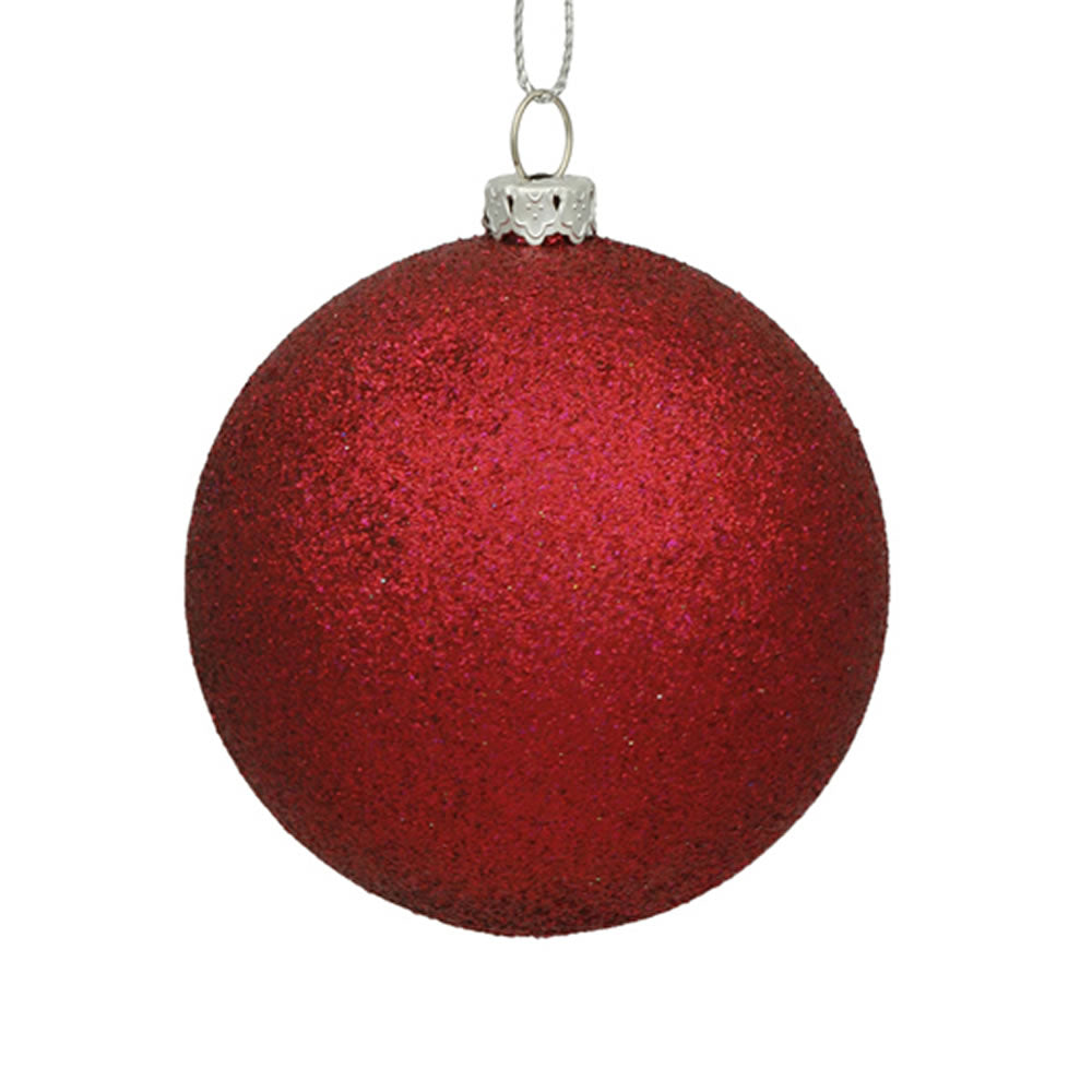 Vickerman 3 in. Wine Glitter Ball Christmas Ornament