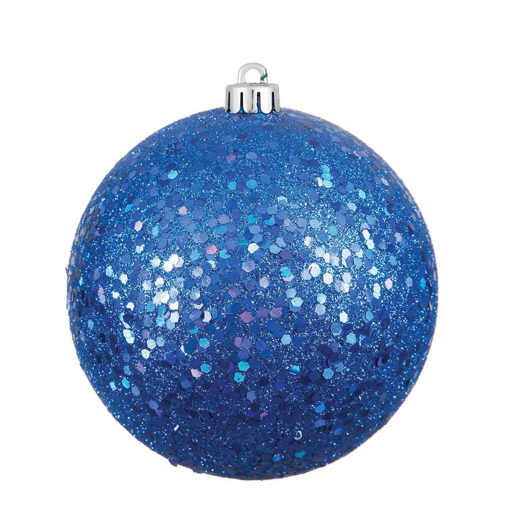 Vickerman 8 in. Blue Ball Christmas Ornament