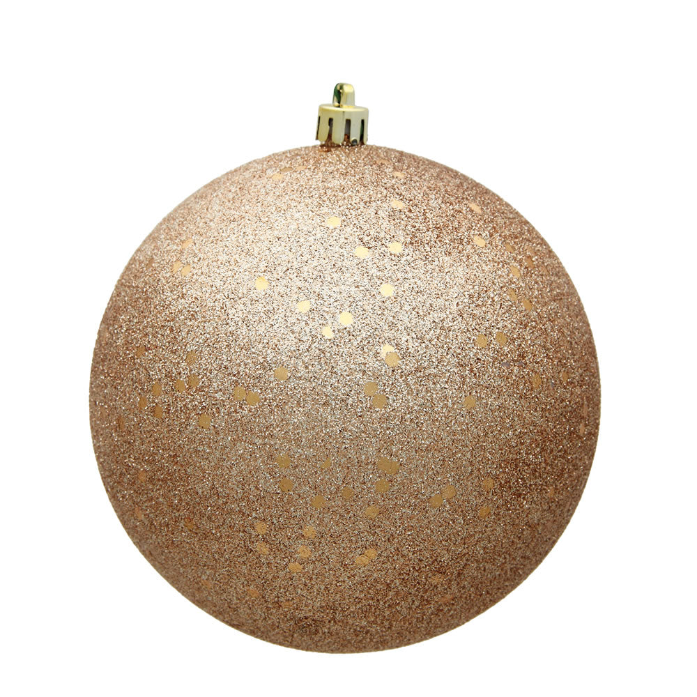 Vickerman 8 in. Cafe Latte Ball Christmas Ornament