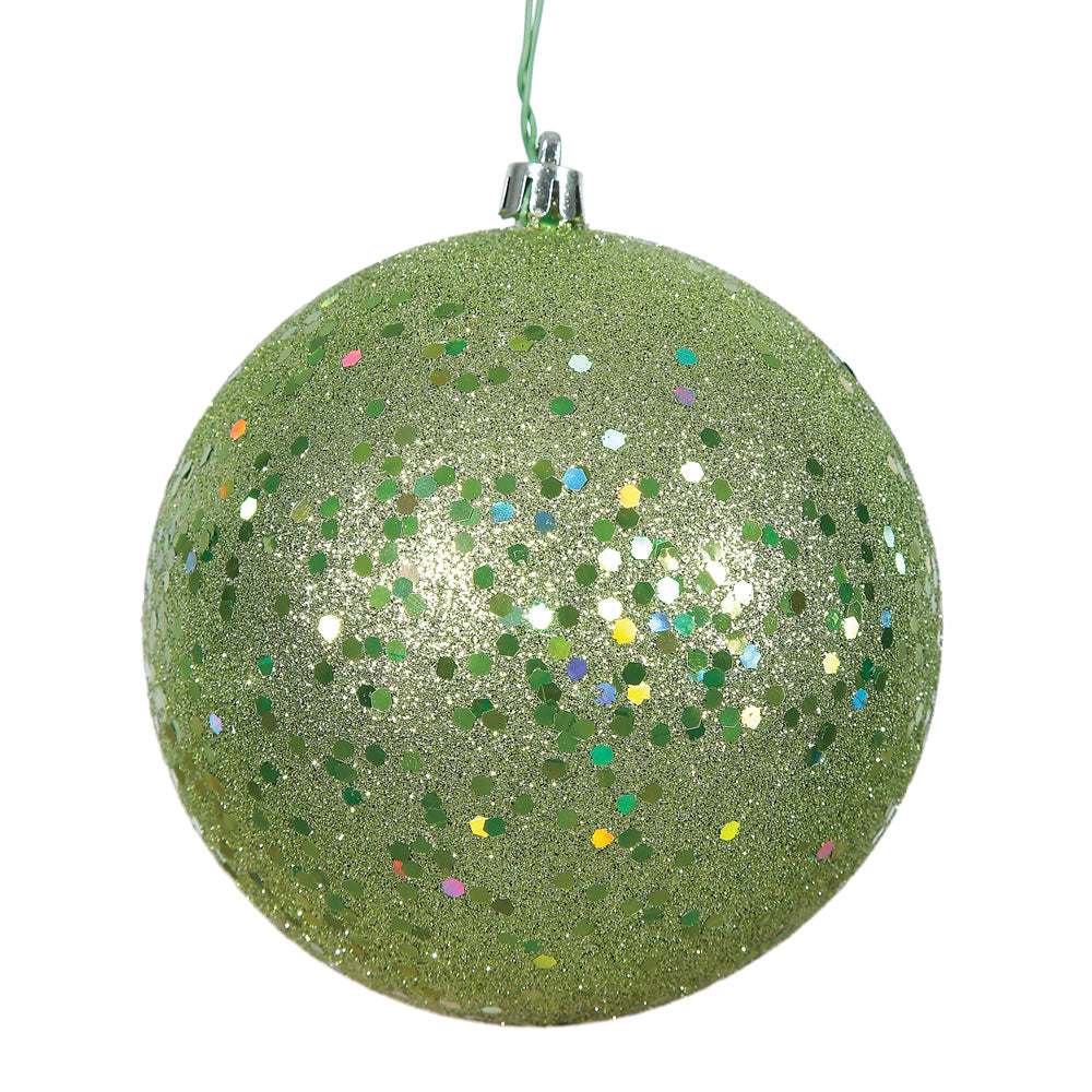Vickerman 8 in. Celadon Ball Christmas Ornament