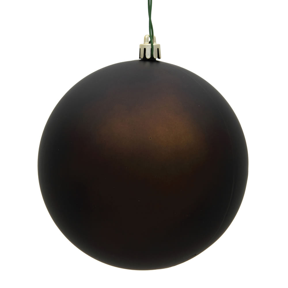 Vickerman 3 in. Chocolate Matte Ball Christmas Ornament