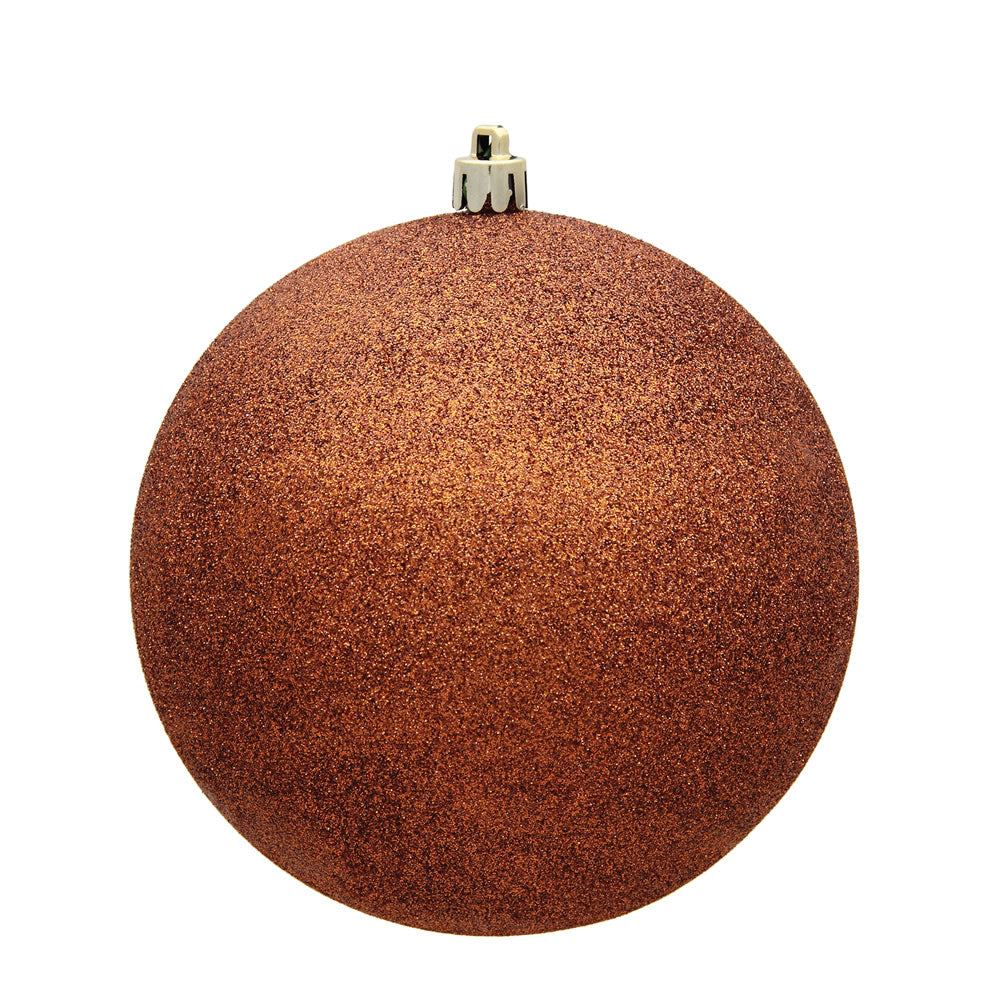 Vickerman 3 in. Copper Glitter Ball Christmas Ornament
