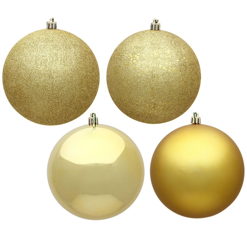 Vickerman 2.4 in. Gold Ball 4-Finish Asst Christmas Ornament