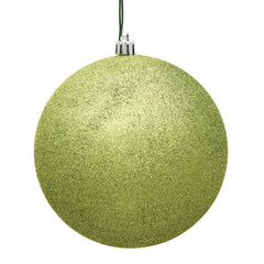 "12PK - 3"" Lime Glitter Shatterproof Christmas Ball Ornament"