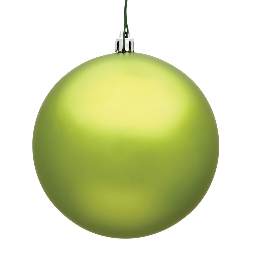 Vickerman 10 in. Lime Matte Ball Christmas Ornament