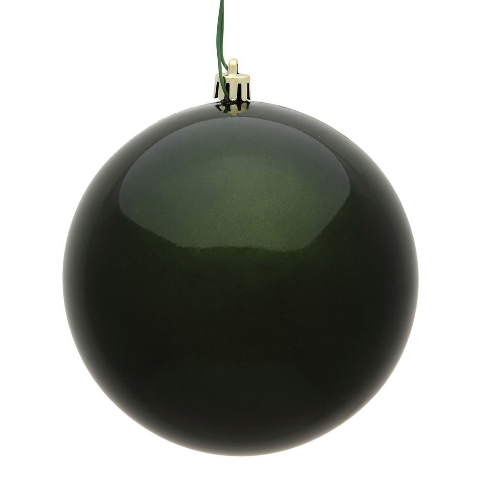Vickerman 3 in. Moss Green Candy Ball Christmas Ornament
