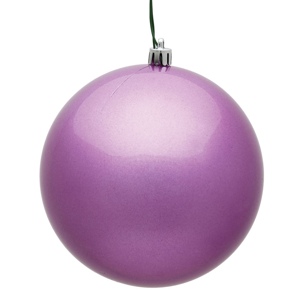 Vickerman 3 in. Orchid Candy Ball Christmas Ornament