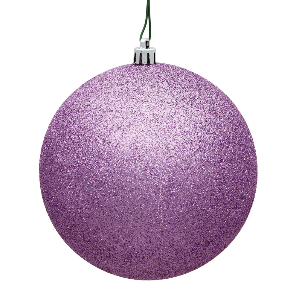 Vickerman 8 in. Orchid Glitter Ball Christmas Ornament
