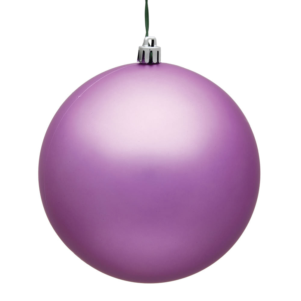 Vickerman 15.75 in. Orchid Matte Ball Christmas Ornament