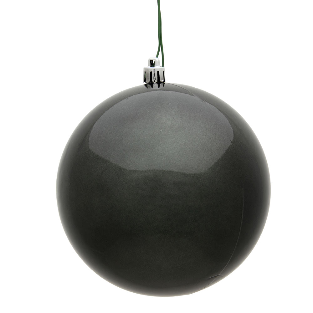 Vickerman 4.75 in. Pewter Candy Ball Christmas Ornament