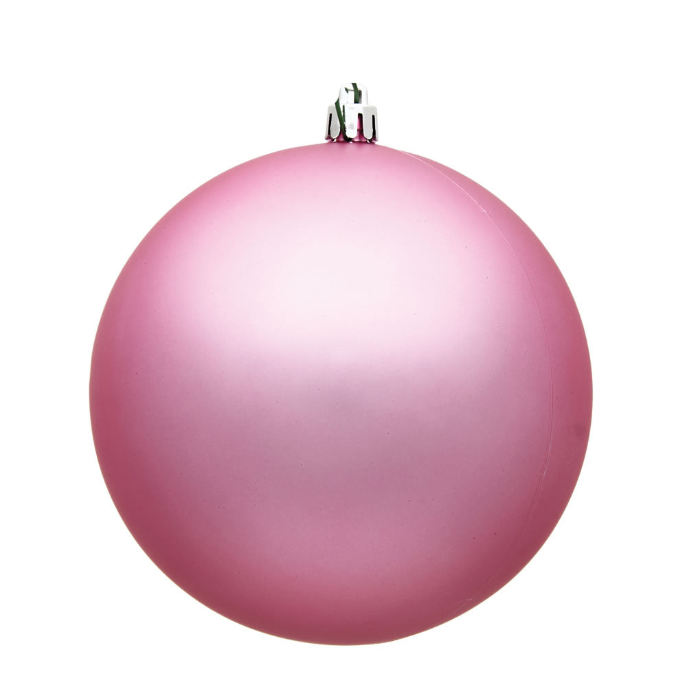 Vickerman 4.75 in. Pink Matte Ball Christmas Ornament