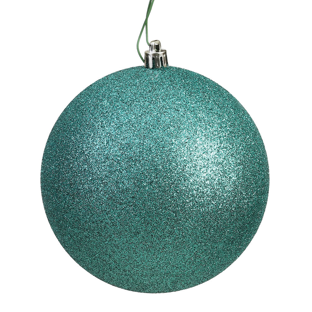 Vickerman 3 in. Seafoam Glitter Ball Christmas Ornament