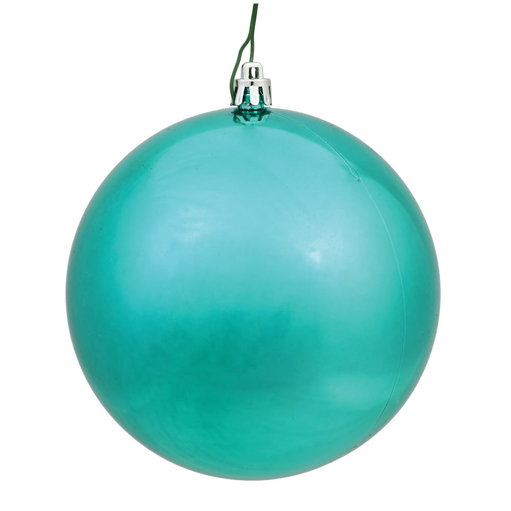 "24PK - 2.4"" Seafoam Shiny Shatterproof UV Resist Christmas Ball Ornaments"