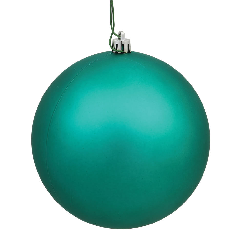 Vickerman 3 in. Teal Matte Ball Christmas Ornament