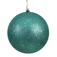 Vickerman 8 in. Teal Ball Christmas Ornament