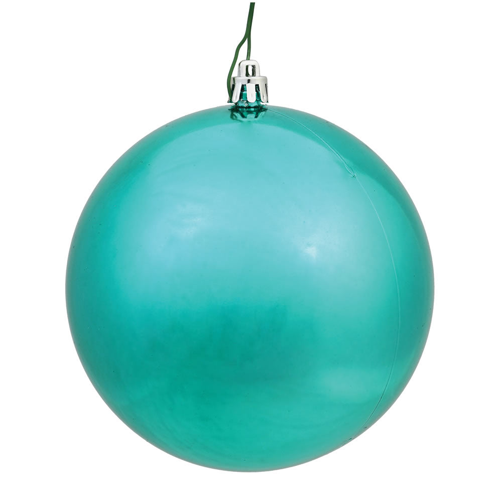 "24PK - 2.4"" Teal Shiny Shatterproof UV Resistant Christmas Ball Ornaments"