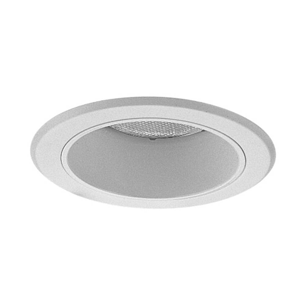 5 in. White Recessed Splay Trim with Socket Bracket