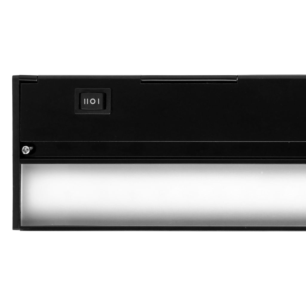 NICOR Slim 21 inch Dimmable LED Under-Cabinet Lighting Fixture Black Finish