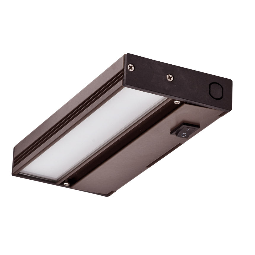 NICOR 8 in. Slim Dimmable Oil-Rubbed Bronze LED Under Cabinet Light Fixture