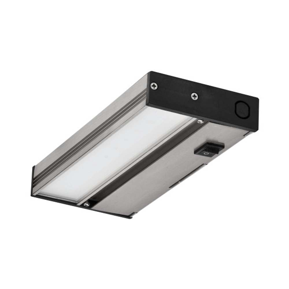 NUC-4 Series 8 in. Hi/Low/Off Nickel LED Under Cabinet Light Fixture