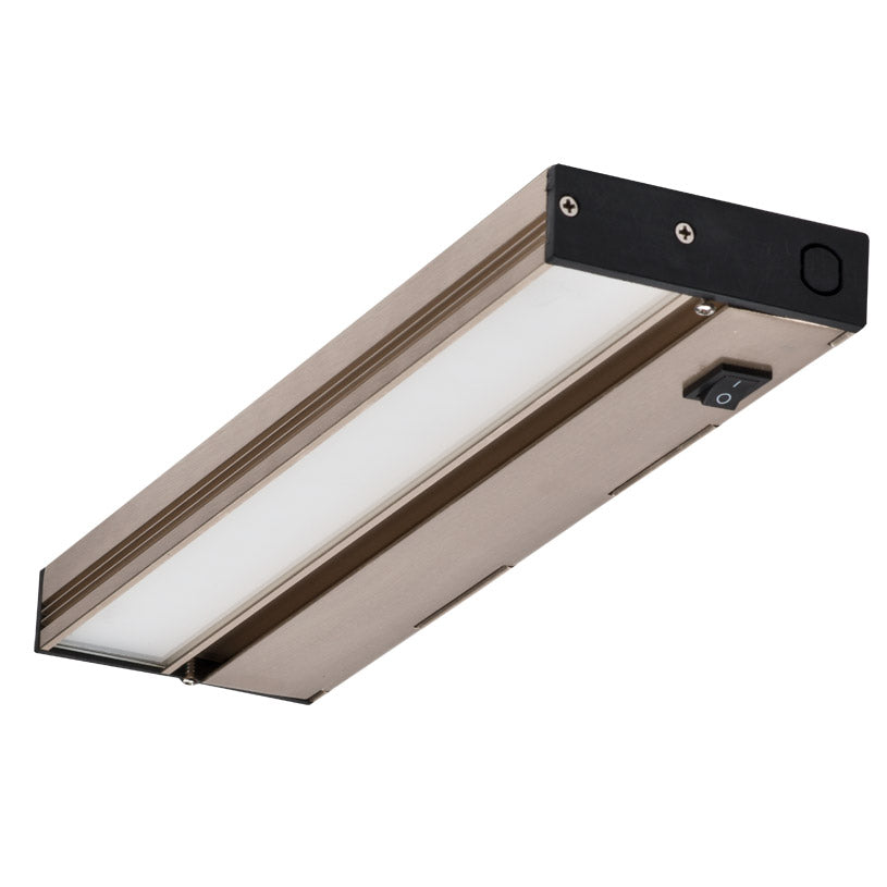NICOR 12 in. Slim Dimmable Nickel LED Under Cabinet Light Fixture