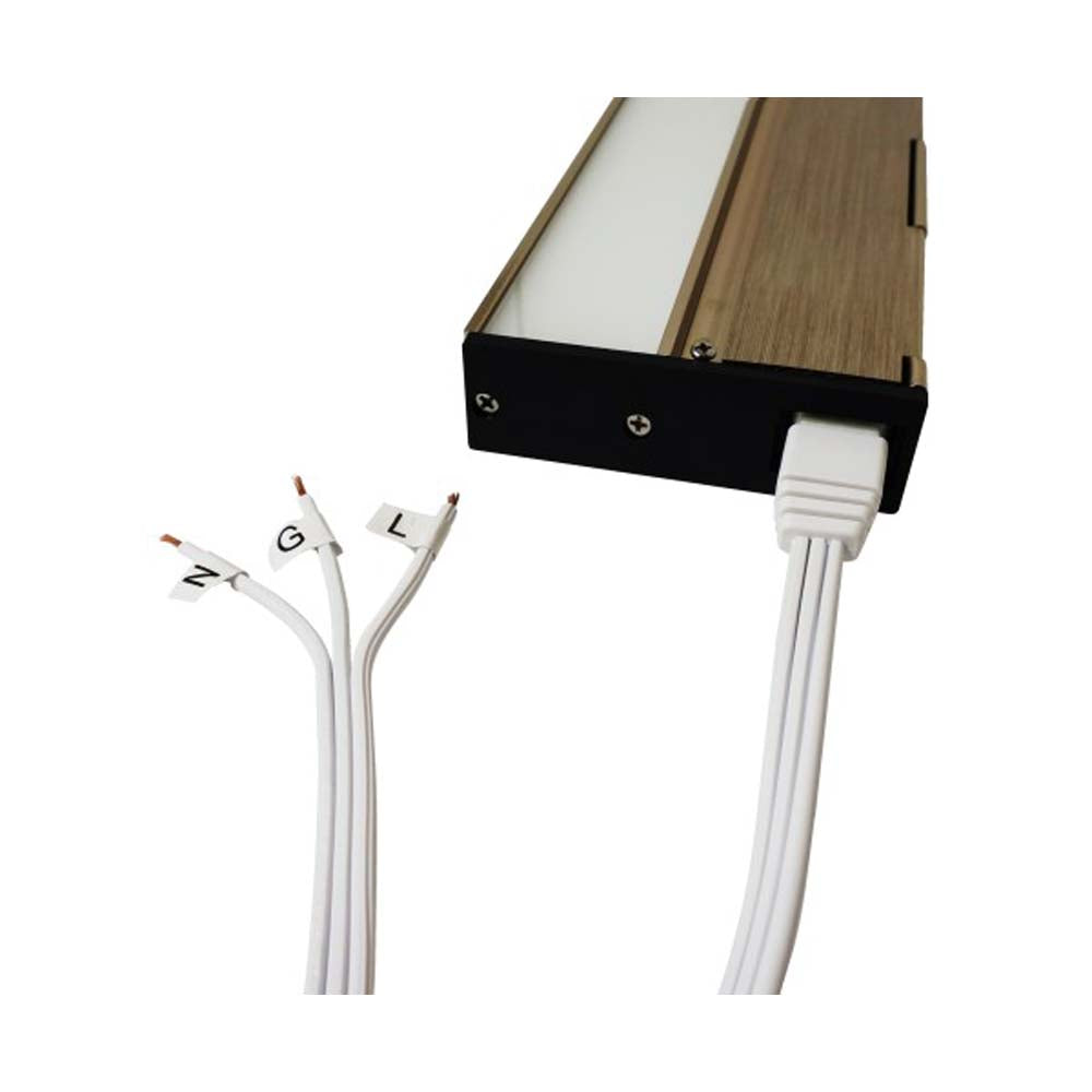 NUC-4 Series 72 in. White Splice Wire for NUC-4 Linkable Undercabinet Lights