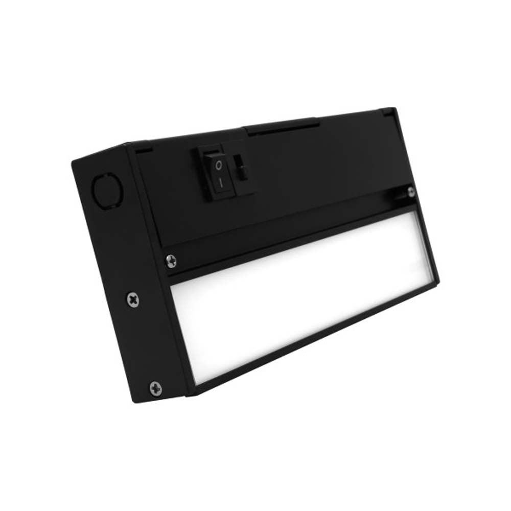 NUC-5 Series 8-inch Black Selectable LED Under Cabinet Light