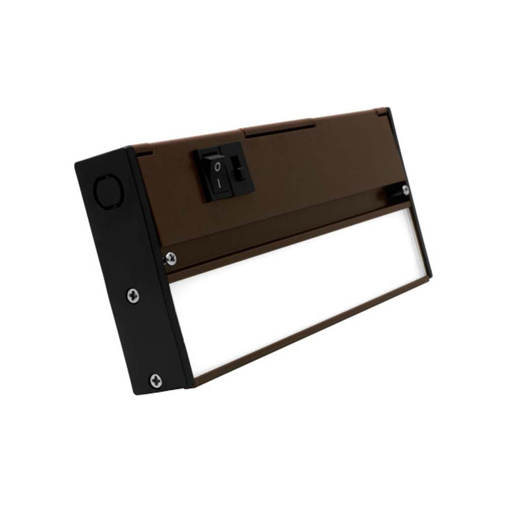 NUC-5 Series 8-inch Oil Rubbed Bronze Selectable LED Under Cabinet Light