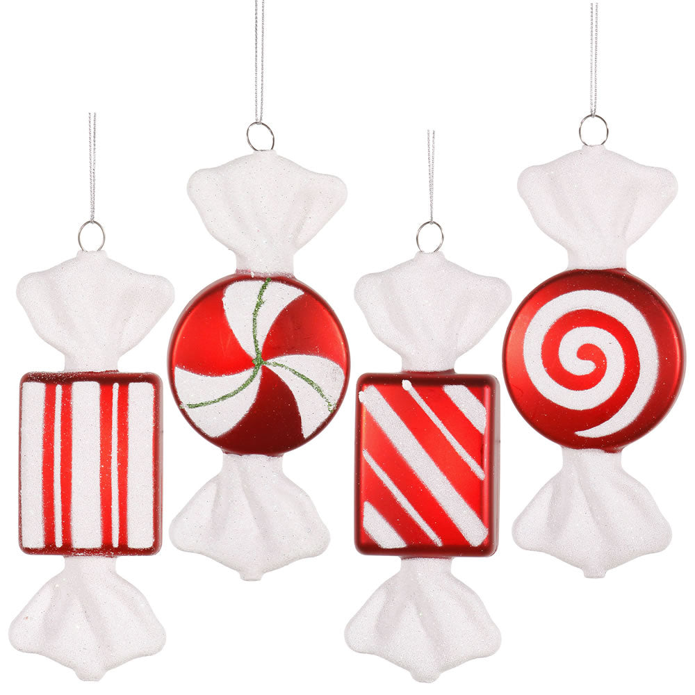 Vickerman 6 in. Red-White Candy Candy Christmas Ornament