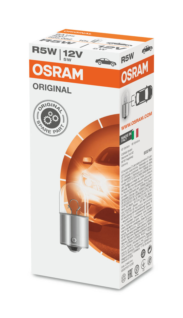 10-PK Osram 5007 R5W 12V High-Performance Automotive Bulb