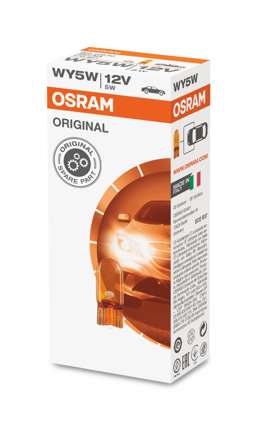 10-PK Osram 2827 WY5W 12V ORIGINAL High-Performance Automotive Bulb