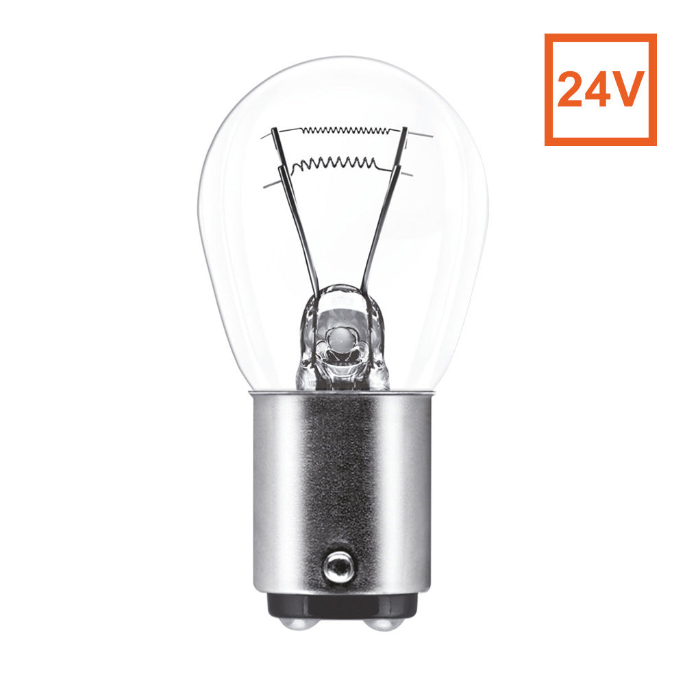 Osram 7537 P21/5W 24V BAY15d Automotive Bulb Engineered for Trucks and Buses