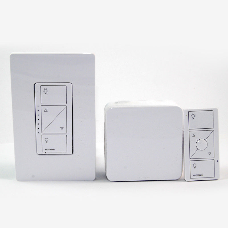 Lutron Caseta Wireless Dimmer Kit with Smart Bridge PRO - White